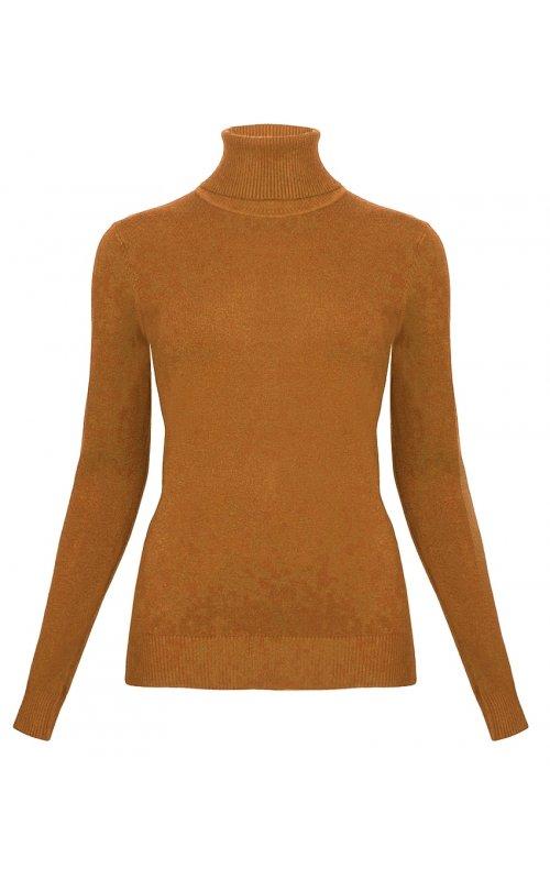 Джемпер с высоким горлом коричневого цвета Anna Pepe AP 22053