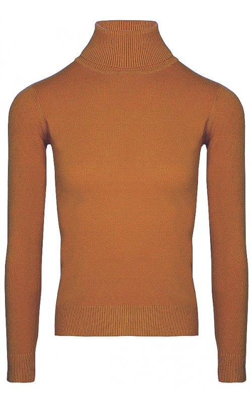 Джемпер с высоким горлом светло-коричневого цвета Anna Pepe AP 22053