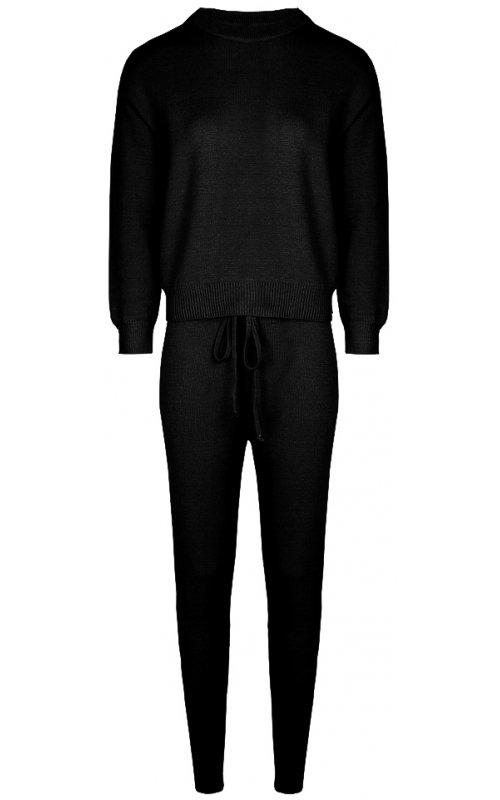 Черный трикотажный костюм Anna Pepe AP 5008