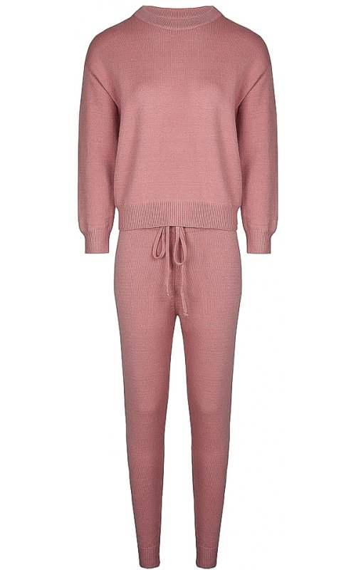 Розовый трикотажный костюм Anna Pepe AP 5008