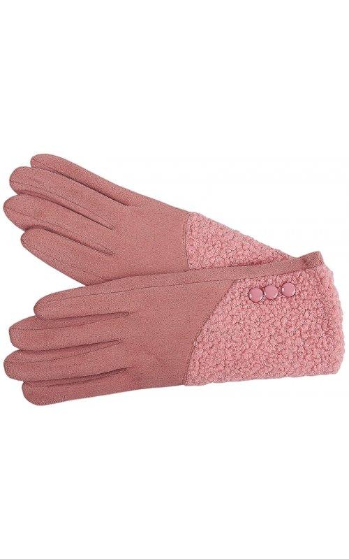 Розовые женские перчатки Anna Pepe AP 869