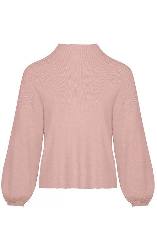 Розовый джемпер с объемными рукавами Anna Pepe AP 1097
