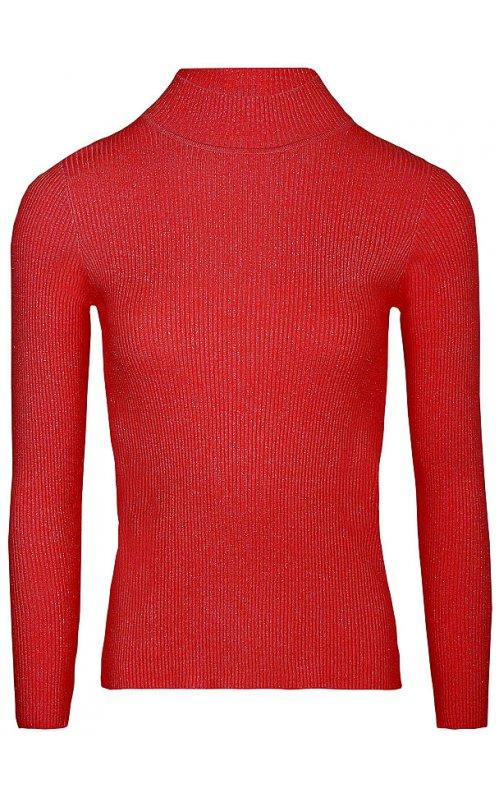 Красный джемпер с люриксом Anna Pepe AP 1299