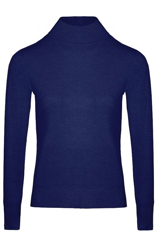 Синий джемпер с длинным рукавом Anna Pepe AP 32165