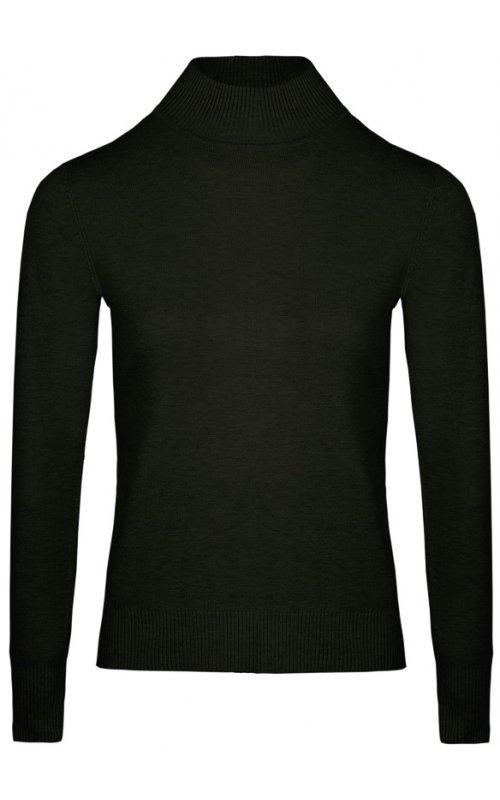 Черный джемпер с длинным рукавом Anna Pepe AP 32165