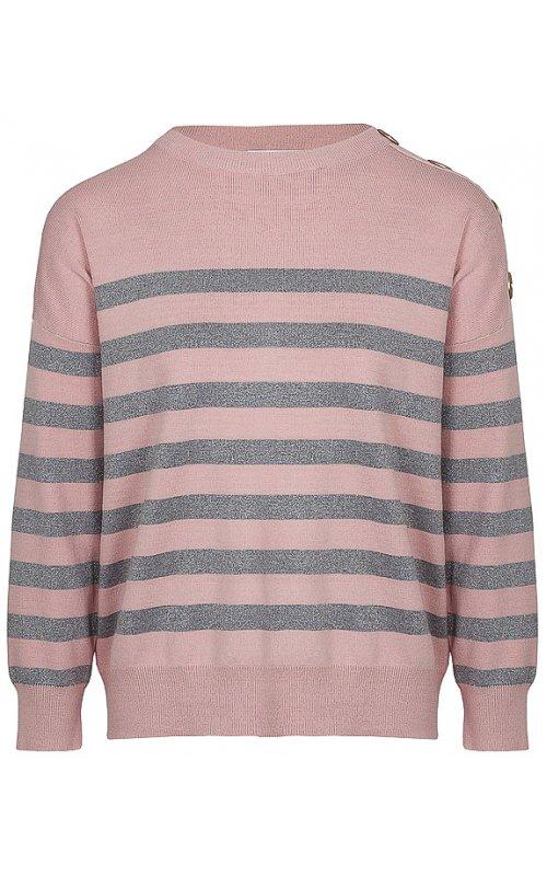 Розовый джемпер в полоску Anna Pepe AP 95046