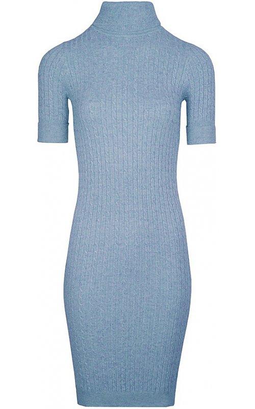 Фактурное платье голубого цвета Anna Pepe AP 2063