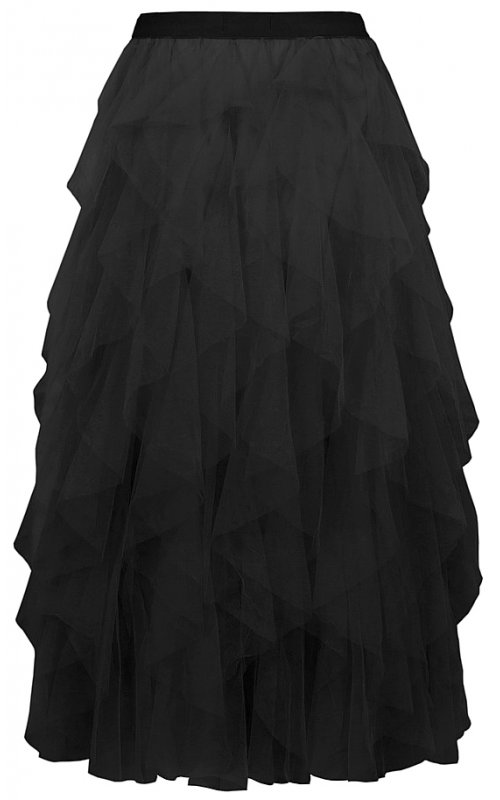 Черная многоуровневая юбка Anna Pepe AP 281