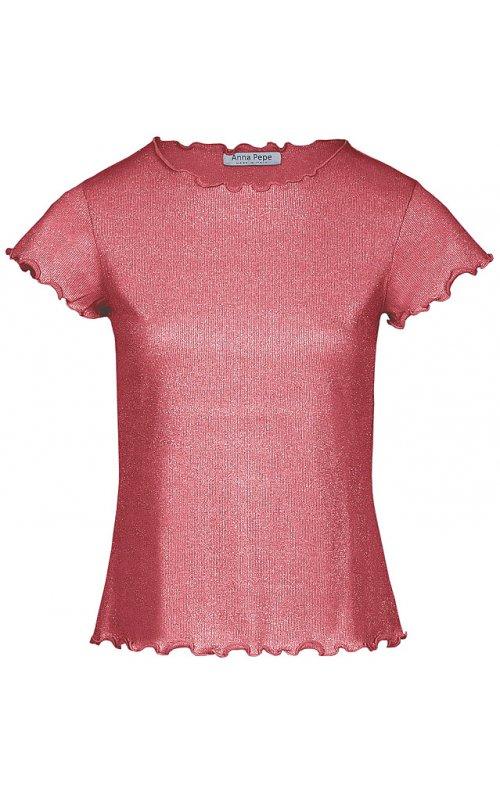 Красная футболка с люрексом Anna Pepe AP 71560