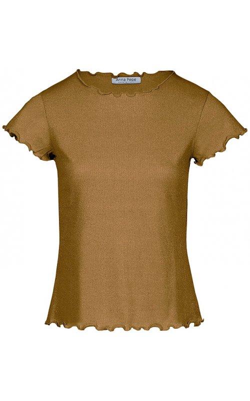 Золотистая футболка с люрексом Anna Pepe AP 71560