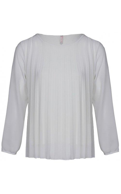 Белая блуза с плиссировкой Anna Pepe AP 10331