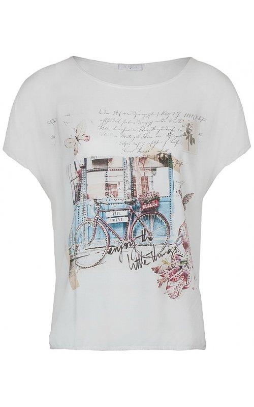 """Белая футболка с принтом """"велосипед"""" Anna Pepe AP 15022"""