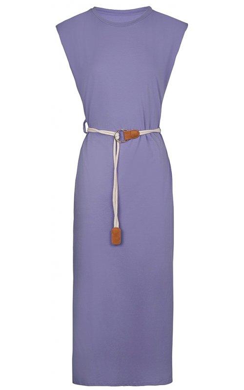 Сиреневое платье с поясом Anna Pepe AP 2071