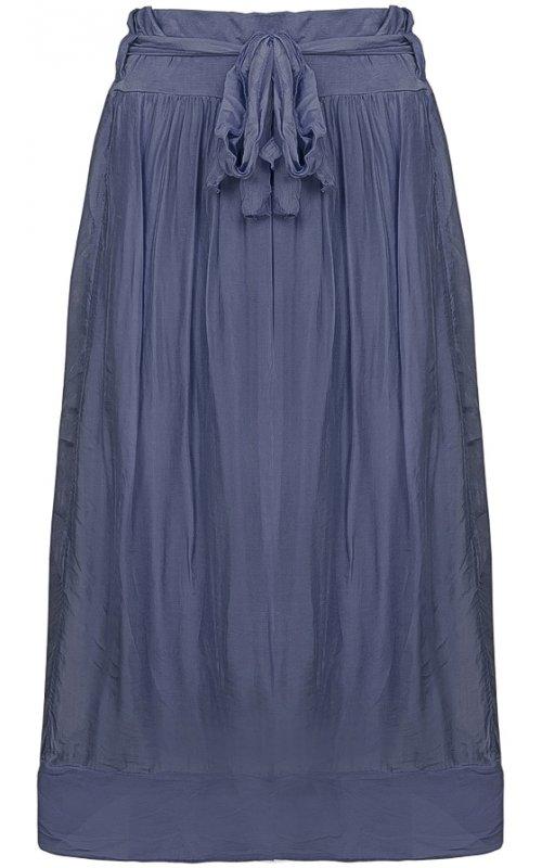 Синяя шелковая юбка Anna Pepe AP 60394