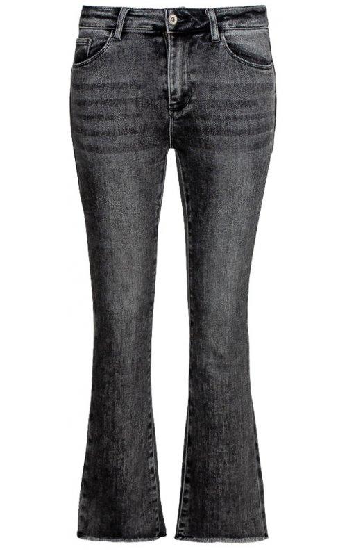 Укороченные серые джинсы расклешенные к низу Anna Pepe AP 1849