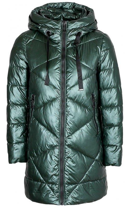 Зеленая стеганная куртка с капюшоном FLY F 1533