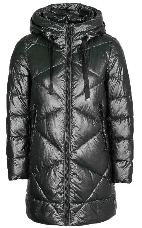 Черная стеганная куртка с капюшоном FLY F 1533