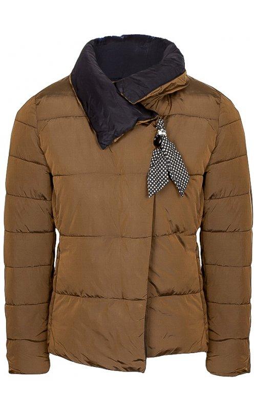 Коричневая куртка с декором FLY F 1553