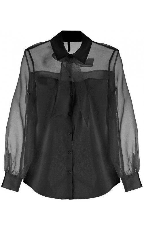 Черная блуза с бантом IMPERIAL CIJ4YDE
