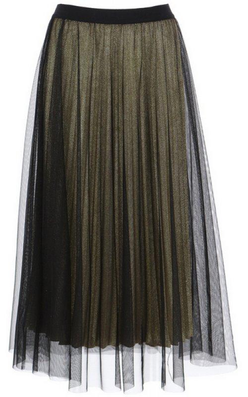 Юбка золотого цвета с черным фатином IMPERIAL GFQ5YFG