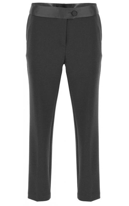 Черные брюки с атласной вставкой IMPERIAL PVN2AAZ