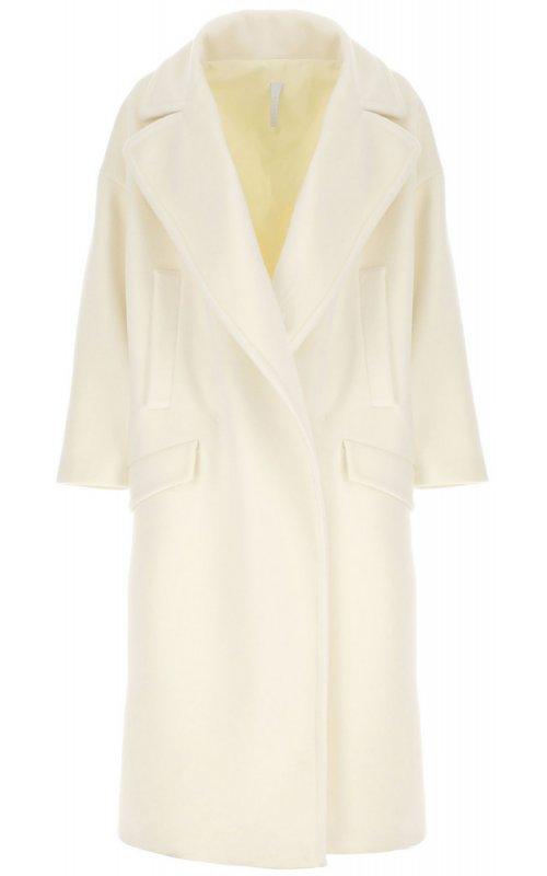 Молочное пальто оверсайз с макси-лацканами IMPERIAL KG26ATL