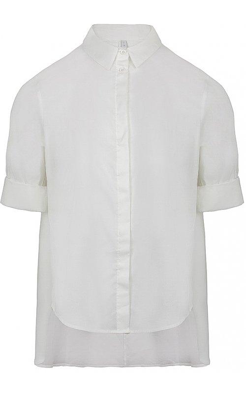 Белая блуза с удлиненной расклешенной спиной IMPERIAL CED4AHW