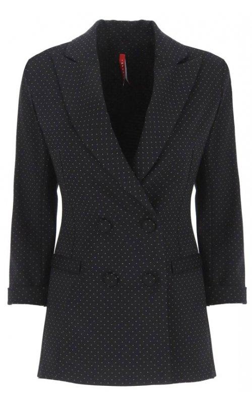 Черный двубортный пиджак в горошек IMPERIAL JW38ADW