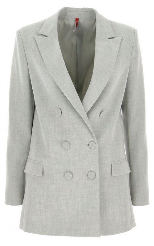 Светло-серый двубортный пиджак IMPERIAL JV17AIQ