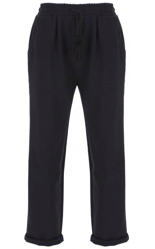 Спортивные брюки черного цвета со шнуровкой IMPERIAL P1O7ABH