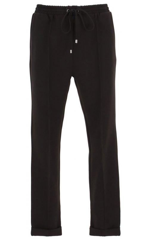 Черные брюки с эластичным поясом и кулиской IMPERIAL P1C0ACX