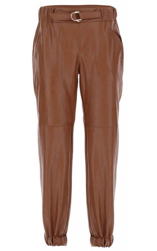 Коричневые брюки из искусственной кожи IMPERIAL P3025367