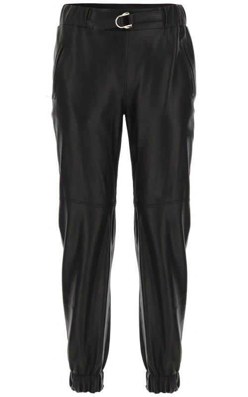Черные брюки из искусственной кожи IMPERIAL P3025367
