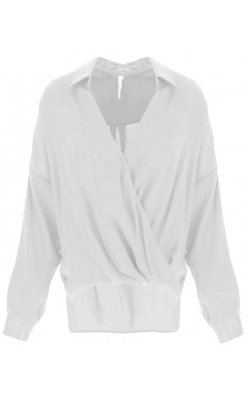 Белая блуза с V-образным вырезом IMPERIAL CJF4AGU