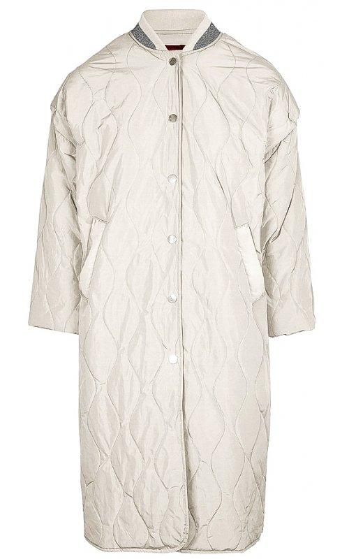 Удлиненная серая куртка со съемными рукавами IMPERIAL I9990002K