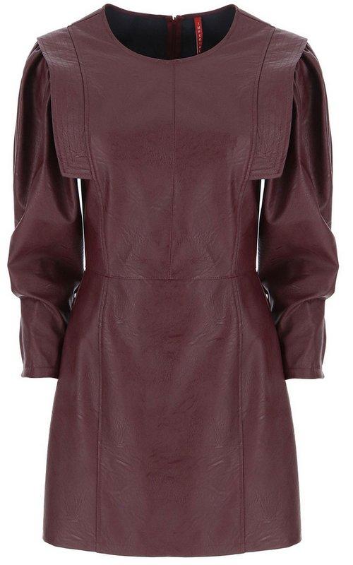 Платье из искусственной кожи сливового цвета IMPERIAL AA5AABD