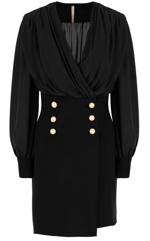 Черное платье с классической ассиметричной юбкой IMPERIAL ABHTAEG