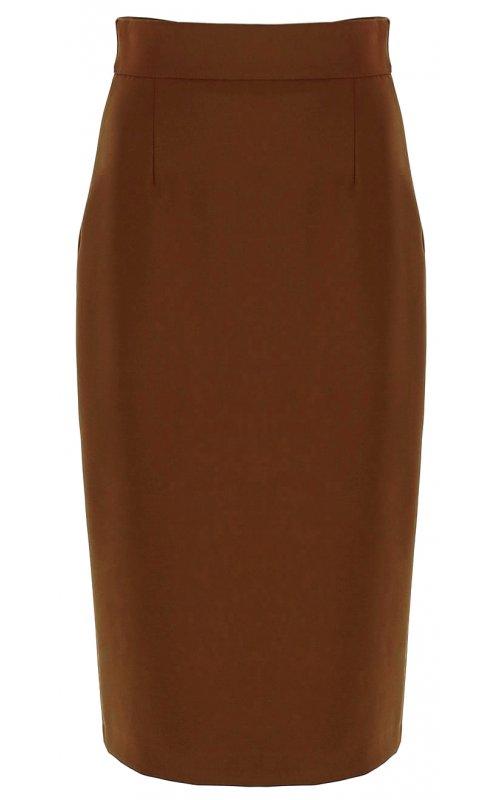 Юбка карандаш коричневого цвета IMPERIAL GGC7AFF