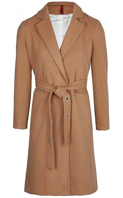 Бежевое пальто с поясом IMPERIAL K9990010K