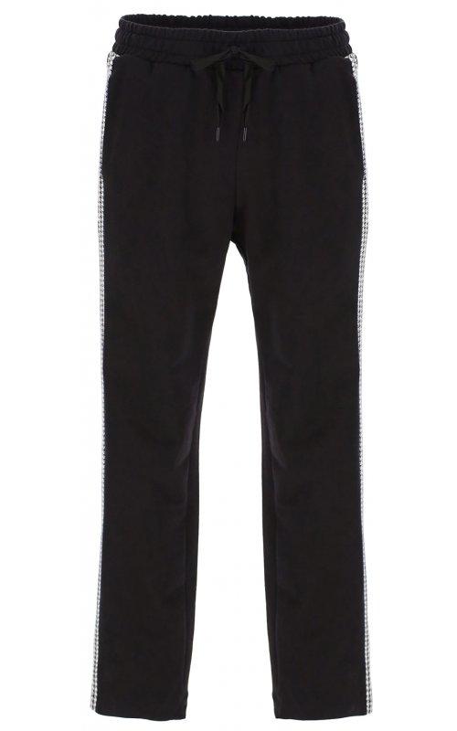 Спортивные брюки черного цвета со вставками IMPERIAL P1Z4AHE