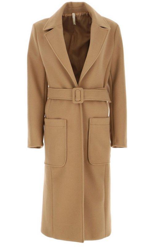 Бежевое пальто с поясом IMPERIAL KH01AQVC
