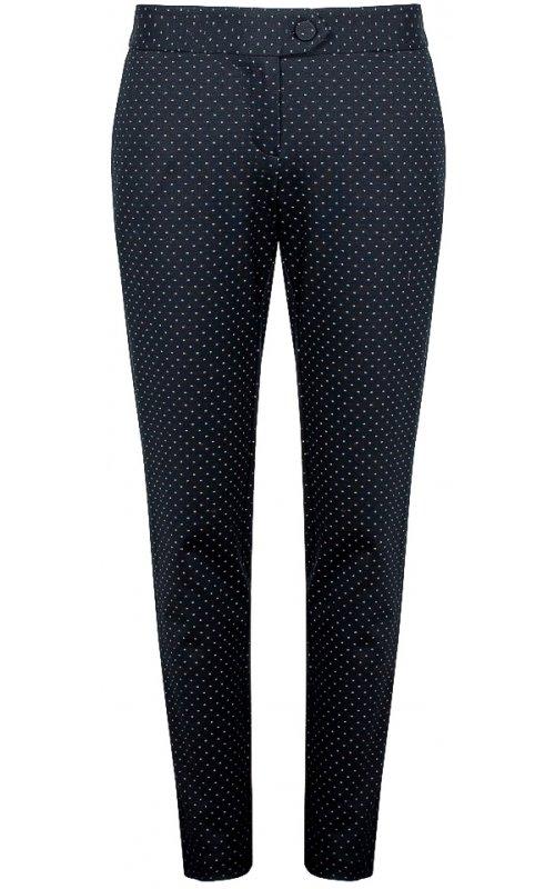 Темно-синие брюки в мелкий горошек IMPERIAL P1C4ARS