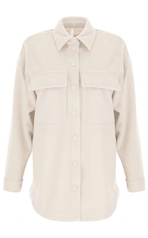 Молочная рубашка-пальто IMPERIAL KH52CEK