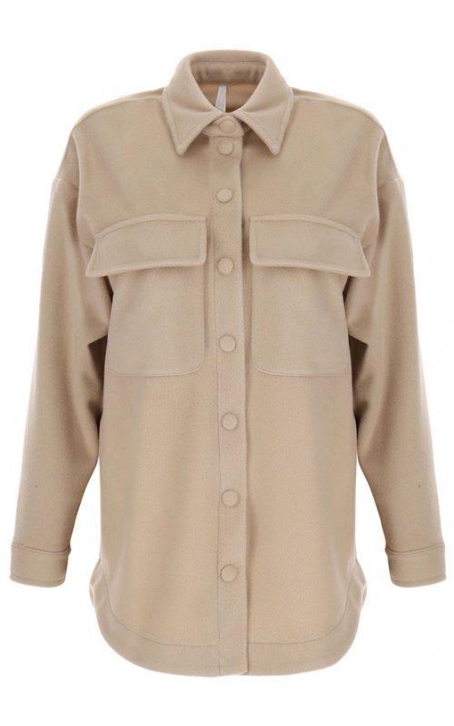 Бежевая рубашка-пальто IMPERIAL KH52CEK