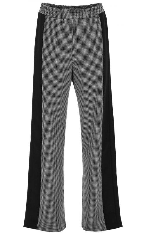 Широкие серые брюки с принтом гусиная лапка IMPERIAL P3B2ACO
