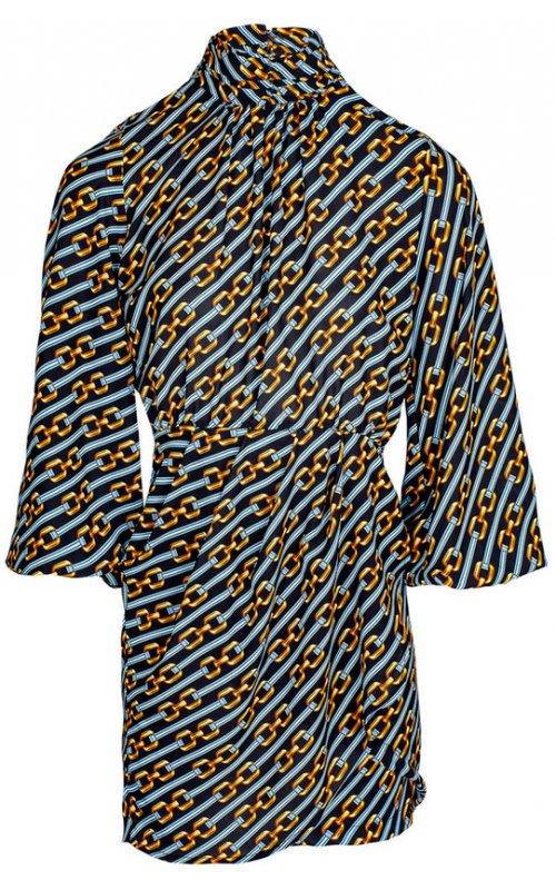 Черно-синее мини-платье с принтом IMPERIAL A9990013M