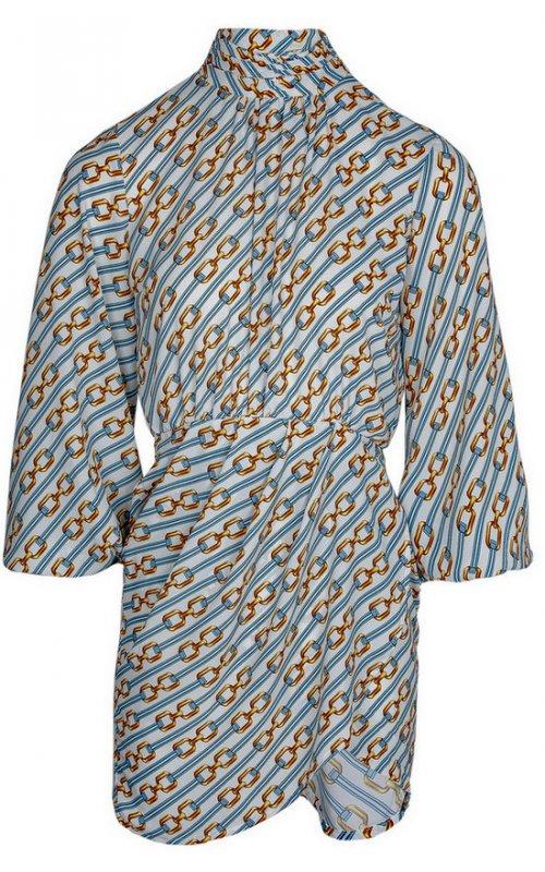 Бело-голубое мини-платье с принтом IMPERIAL A9990013M