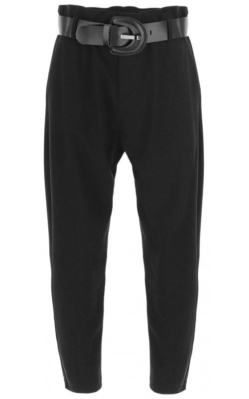 Черные укороченные брюки с поясом IMPERIAL P1W8CNI