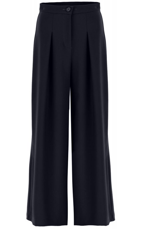 Темно-синие брюки-палаццо с вытачками IMPERIAL P2C1CEN
