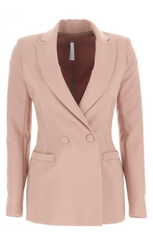 Розовый пиджак с лацканами IMPERIAL JV88ZFH